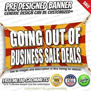 Going Out Of Business Sale Deals Advertising Vinyl Banner Sign No Cheap Flag