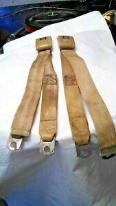 Gm Tan Seat Belts 2 Pair 4pcs 1968 72 Gto Chevelle Olds Buick 347 3 4