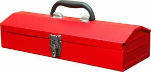 Torin 16 Hip Roof Style Portable Steel Tool Box With Metal Latch Closure
