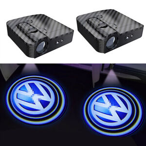 Wireless Led Courtesy Car Logo Door Shadow Projector Light For All Volkswagen Vw