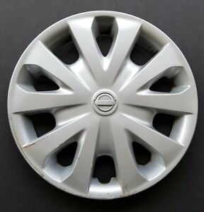 One Wheel Cover Hubcap 2012 2019 Nissan Versa 15 Silver 53087 Used