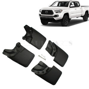 4 Splash Guard Mud Flaps Rear Front Fit For 16 20 Toyota Tacoma W Fender Flares