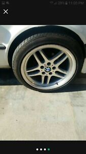 2001 Bmw 740i Sport E38 M Parallel Wheels 18 Staggered Full Set Of 4