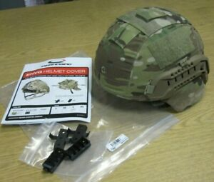 OPS Core Multi Cam ENVG ACH Helmet Cover ARCs Rails LARGE Wing Loc USA Made $79.95