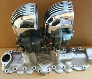 2 Thickstun Carb Scoops Hot Rod Flathead Ford Intake V8 Stromberg Velocity Stack