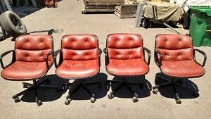 Vintage Knoll Conference guest Side Chairs Set Of 4 We Deliever Locally Nor Ca