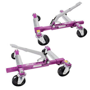 Pair Car Wheel Dolly By Gojak Right Hand G6313 And Left Hand G6313l