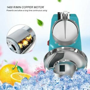 220v Commercial Electric Ice Crusher Shaver Machine Snow Cone Shaved Ice Mak