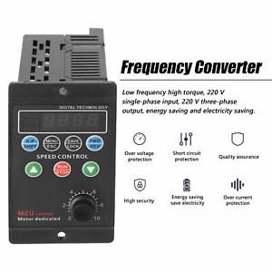 220v 750w Single Phase 3 phase Variable Frequency Drive Converter Motor 4 digit
