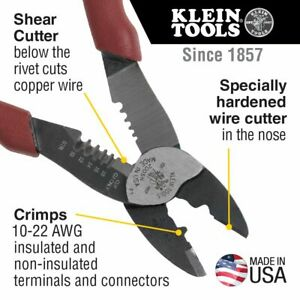 Klein Tools Wire Crimper Cutting Tool 2005n Made In Usa