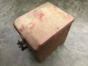 Used Ih Farmall H W4 Tractor Battery Box Lid W side J cover Bolts Wing Nuts