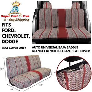 Truck Pickup Suv Car Baja Saddle Blanket Bench Seat Cover New For Ford Chevrolet
