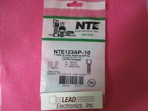 Qty 10 Nte123ap Silicon Npn Transistor For Use In Audio Amplifier Switch App 1