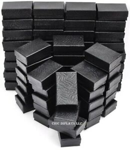 100pc Black Jewelry Gift Boxes Black Cotton Filled Boxes Earring Boxes Deal