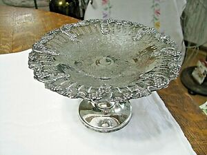Antique Silver Plate Compote Or Tazza By Victorian Silver Of Ontario Canada