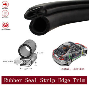 Rubber Seal Strip Protective Car Truck Auto Parts Hood Trunk Lock Trim 25ft