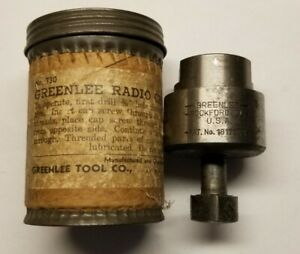 Vintage Greenlee Knock out 1 3 16 No 730 Round Radio Chassis Punch With Box