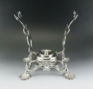 1836 Ornate Fine Quality Antique English Sterling Silver Kettle Stand London