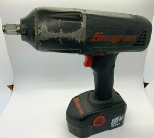 Snap On Tools 18v Cordless Impact Wrench Gun 1 2 Dr W Nicad Battery Electric