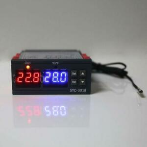 Duble Display Temperature Controller Celsius Fahrenheit 10a Thermostat Switch