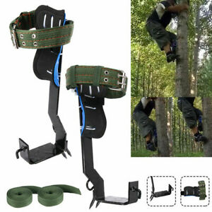 2 Gears Tree Pole Climbing Spike Safety Adjustable Lanyard Rope Rescue Belt Hot