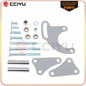 Power Steering Bracket Kit Polished For Chrome Chevy Bbc 454 Long Water Pump Lwp