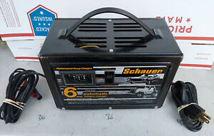 21nn39 Schauer Br412 Car Battery Charger 12vdc 6a Rated Good Condition