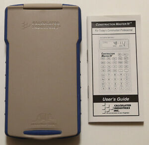 Calculated Industries Construction Master Iv Calculator 4045 ver 2 0
