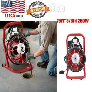 75 X 3 8 Drain Cleaner Machine Commercial Sewer Snake Plumbing Machine 250w