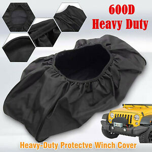 Waterproof Soft Dust Winch Cover Heavy Duty Fits Electric12000lb Capacity Us