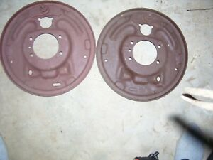 Ford 9 Rear Full Size And Truck 11 Brake Backing Plates Late Big Ford 3 9 16x2