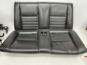 1999 2004 Oem Ford Mustang Convertible Rear Seat Back Leather Gt Charcoal T1395