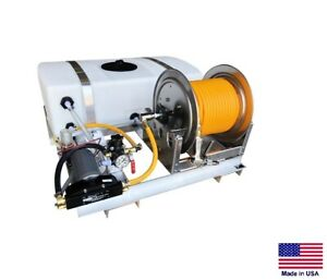 Sprayer Commercial Skid Mounted 12v Dc 3 Gpm 150 Psi 50 Gallon Tank
