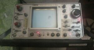Bk Precision 1560 Trace Oscilloscope 60mhz Volts Sweep Time Powers On