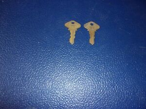 Two 2 1919 1927 Model T Ford Ignition Switch Keys 64