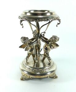 Victorian Silver Plated Epergne With Cherubs Stand Base Only