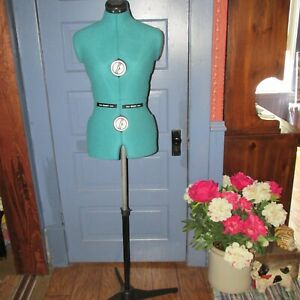 Dritz 20420 Sew You Adjustable Dress Form With Tripod Stand Small Opal Green