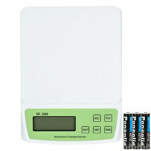 10kg X 0 5g Digital Shipping Postal Scale Postage Kitchen Food Weigh 3battery