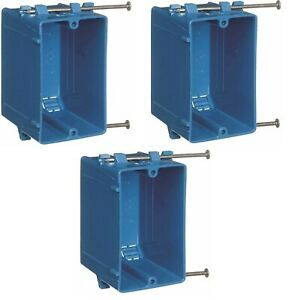 3 Pack New Work B120a 1 gang 20 Cu In Pvc Outlet Switch Electrical Box