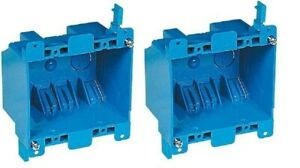 2 Pack Carlon B225r 2 gang Old Work 25 Cu In Pvc Switch Outlet Electrical Box