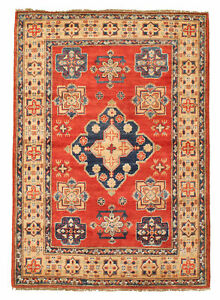 Vintage Hand Knotted Carpet 3 5 X 5 2 Traditional Oriental Wool Area Rug