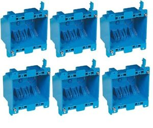 6 Pack Carlon B225r 2 gang Old Work 25 Cu In Pvc Switch Outlet Electrical Box