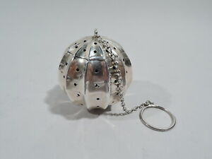 Frank M Whiting Tea Ball 3863 Antique Infuser American Sterling Silver