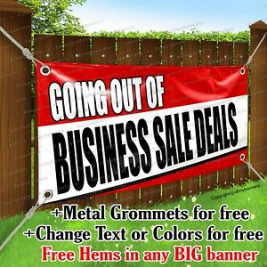 Going Out Of Business Sale Deals Advertising Vinyl Banner Sign Flag Any Size