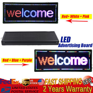 Led Sign 40x15 Scrolling Led Sign Advertising Message Board 2 Color Combination