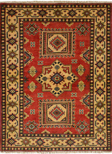 Vintage Hand Knotted Carpet 3 3 X 4 7 Traditional Oriental Wool Area Rug