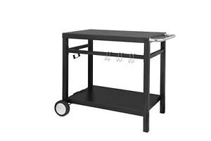 Royal Gourmet Double shelf Movable Dining Cart Table commercial Multifunctional