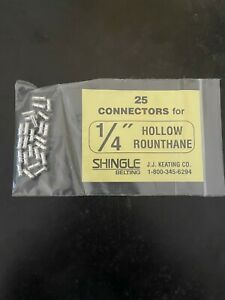 Lot Of 25 New J j Keating Connectors For 1 4 Hollow Rounthane Shingle Belting