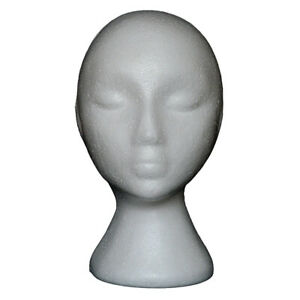 Abstract Foam Mannequin Head Model Wig Hair Glasses Display Stand