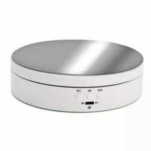3 Speeds Electric Rotating Display Stand Mirror Turntable Jewelry 360 Degree